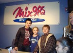 David with fans at Mix 98.5 Breakfast