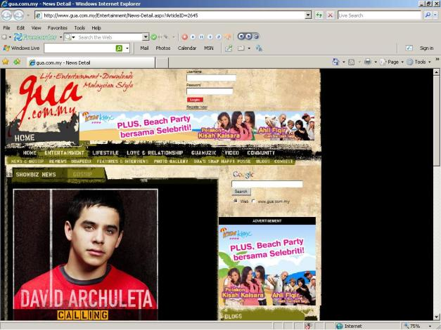 Calling All Archuleta Fans