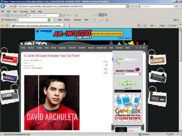 A Call for All David Archuleta Fans Out There!