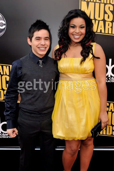 David & Jordin at AMA Red Carpet - from Getty