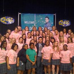 David & the girls at Seton High School