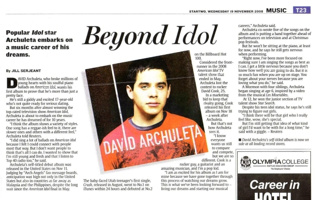 David Archuleta - To Infinity and Beyond