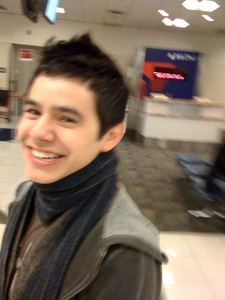 Happy David at the airport!!
