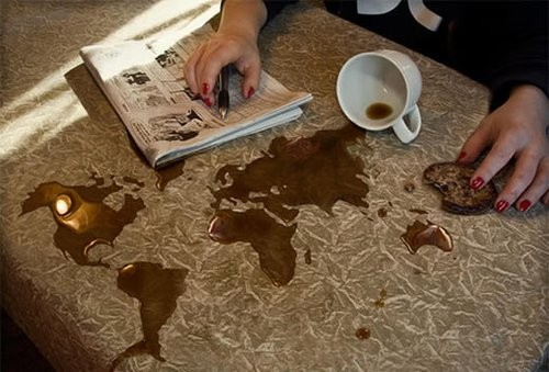 hey spilled coffee