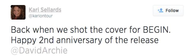 begin 2nd anniversary tweet