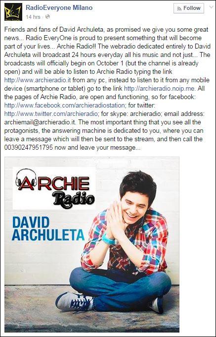archie radio tweet