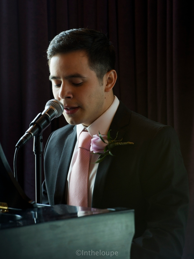 David (singing? speaking? ) as Best Man at a friend's wedding