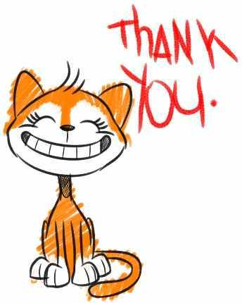 Image result for shy cartoon animal thank you